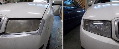 autó fényszóró polírozás