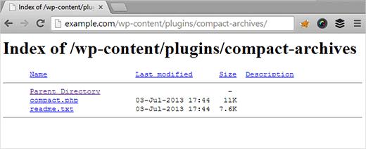 Könyvtártallózás letiltása a .htaccess fájl segítségével a WordPress-ben